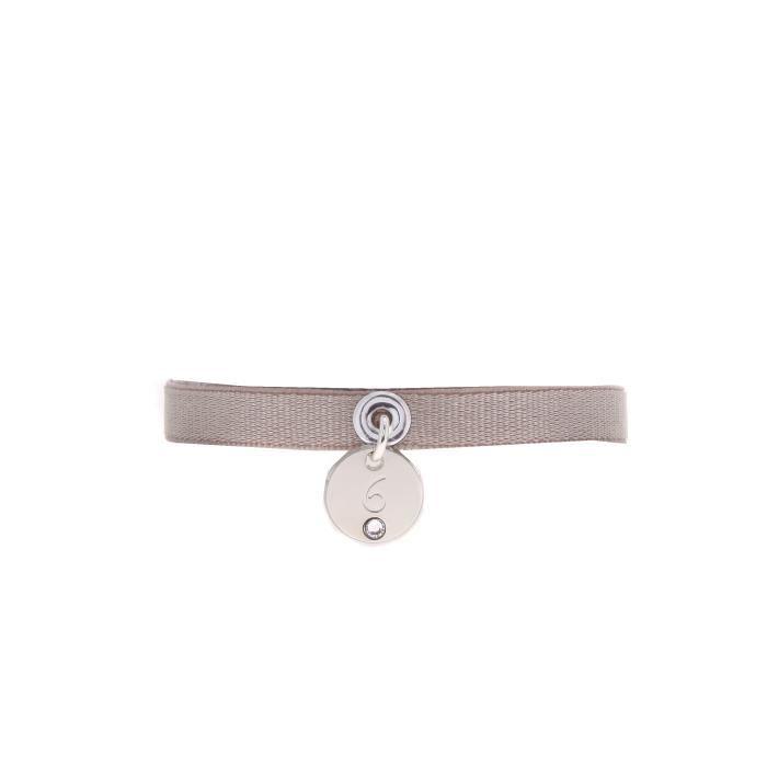 Bracelet LES INTERCHANGEABLES en Laiton, Cristal Blanc et Satin - A39771