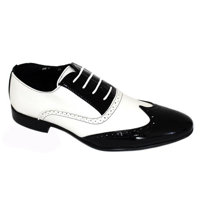 chaussures de ville au design richelieu avec dessus VERNIS Bicoloreet intérieur cuir Rusty Neal ObkWQ9mSrH