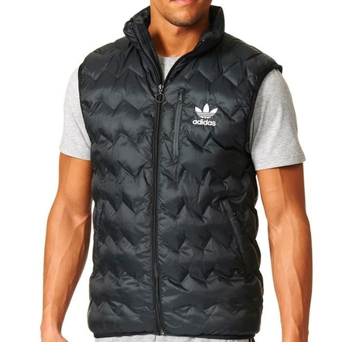 Noir Manches Achat Homme Serated Doudoune Sans Adidas qSw1aa