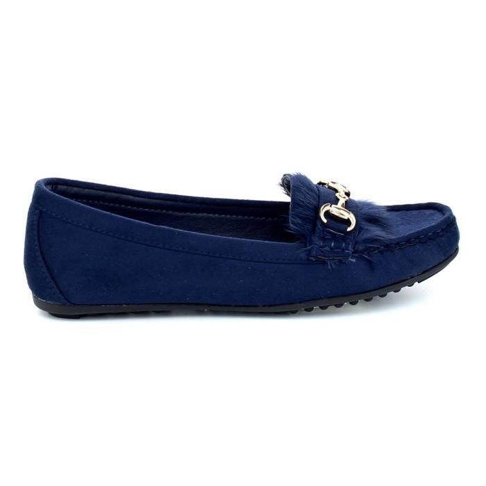 Birdie-01 Casual Driving Moccasin Loafers Fashion Suede Dress Shoes Flats W4U1R Taille-37 1-2