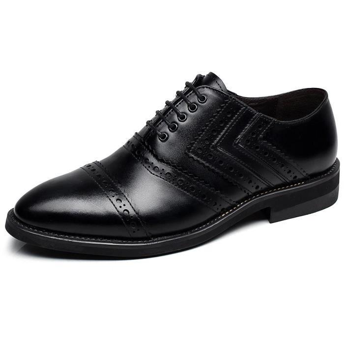 Nouvellement Robe richelieu en cuir chaussures à la mode européenne Chaussures richelieu à lacets RUUIT Taille-42 1-2 LiTKH8N9P