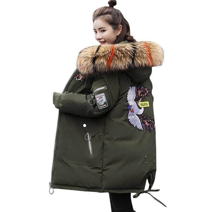 Femme Chaud Long Veste Manteau Jacket Hiver Minetom Doudoune Capuche qaxFwPH