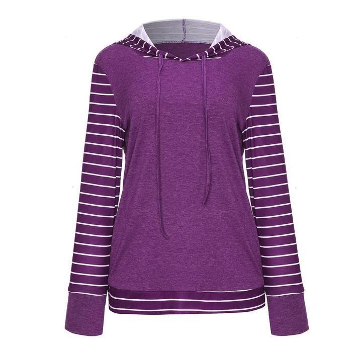 Champion Logo Graphique Femme Sweat à capuche-Violet
