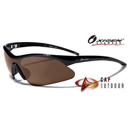 Oxygen Lunettes de Soleil - Sport - Cyclisme - Running - Ski - Conduite - Moto / Mod. 4300 Noir Fumé x2UltEMc9n