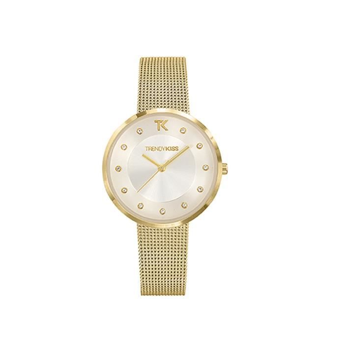 d2ab4d433b9 Montre Femme Trendy Kiss Lenna en Acier Or jaune - Blue Pearls ...