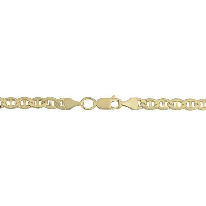 Bracelet chaîne Mariner en or jaune 14 carats, 4,5 mm, 8,5