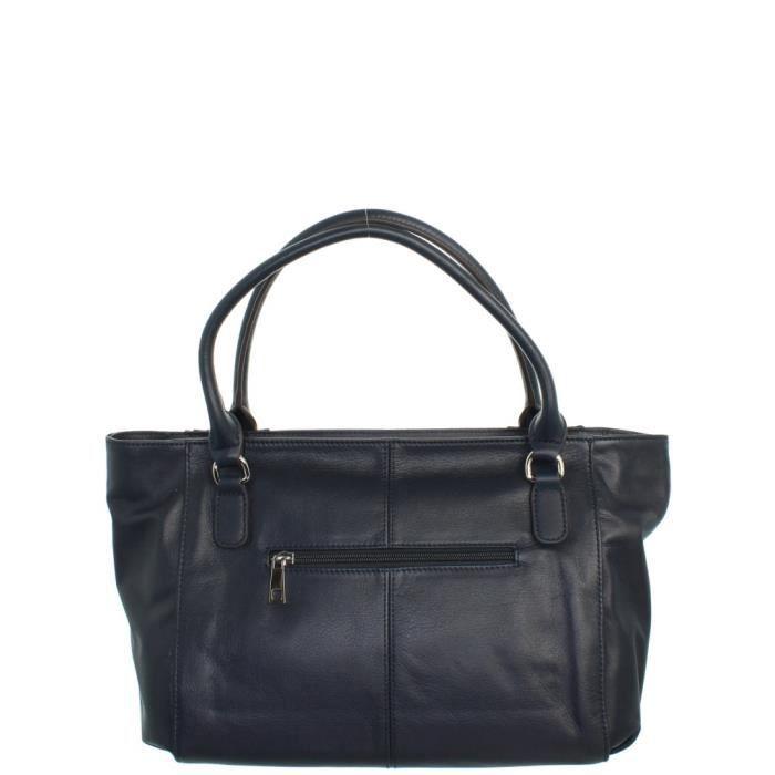 Sac porté épaule Francinel en cuir ref_lhc42998-noir-38*26*10 Noir