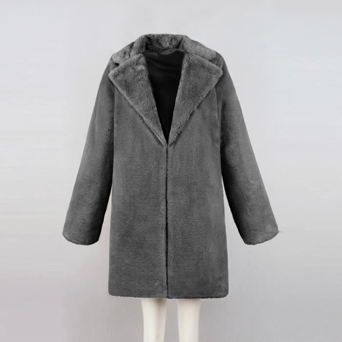 Long Hiver En Gris Fourrure Parka Fausse Vêtement Lady Lnp80831366gym Chaud Womens Manteau xOqnwIZOr