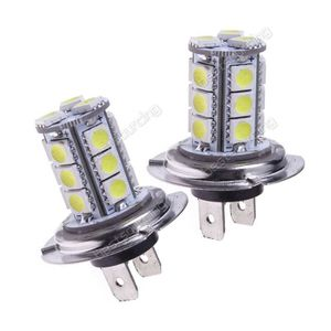 PHARES - OPTIQUES ANGRONG 2x Ampoule H7 18 LED 3528 SMD BLANC 6000K