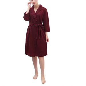 5b767b68e9d9c Peignoir de bain femme rouge - Achat / Vente pas cher