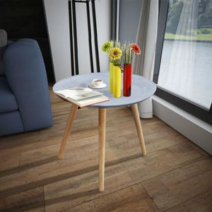 TABLE D'APPOINT Table d'Appoint Ronde Table basse Gris Aspect béto