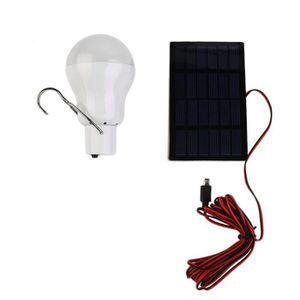 AMPOULE - LED 15W 110Lm Ampoule Led Lampe Panneau Solaire Portat