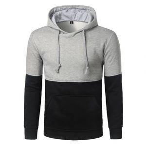profiter de la livraison gratuite commercialisable prix Sweat à capuche Homme sport uni D'automne Casual Vêtement ...