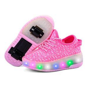BASKET Mode enfants chaussures filles à roulettes LED Lum