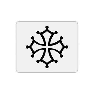 TAPIS DE SOURIS Tapis de souris rectangle imprimé croix occitane