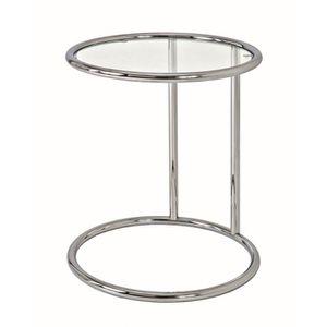 TABLE D'APPOINT Table d'appoint en tube d'acier Coloris Chromé,…