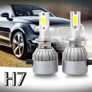 PHARES - OPTIQUES Nouveau 2pcs C6 LED Phare de voiture Kit COB H7 36