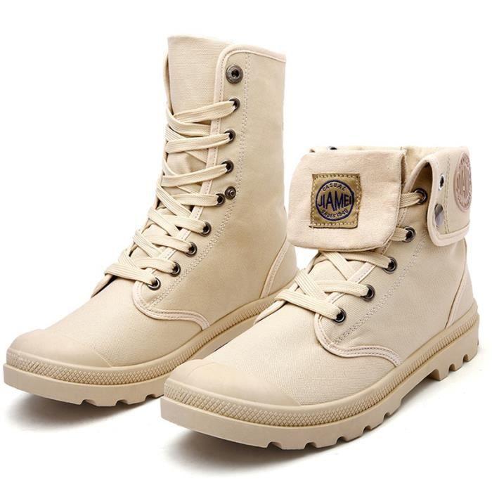 Bottes pour Hommekaki 7 Hiver Mode Martin High Top Chaussures de toile à lacets_34077 lBuvQIF7WK