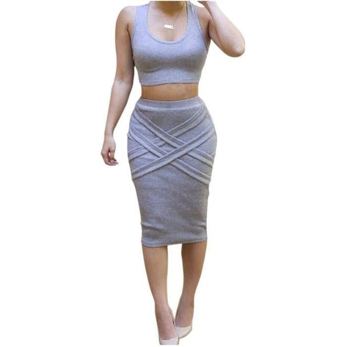 Craze en plus robe de taille profonde v collerette taille froncée robe club bodycon GKFHE