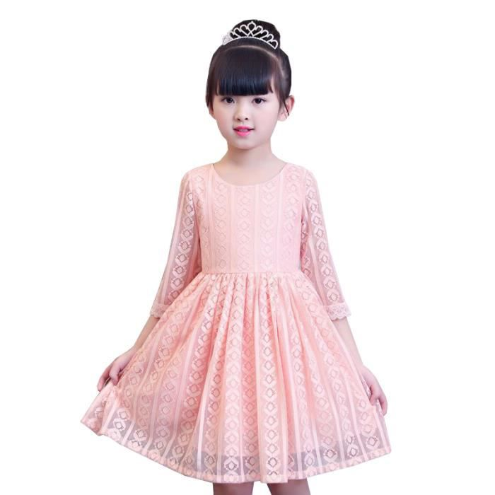 2c389bfa2a9ee Robe Fille Rose 4-10 ans Rose Rose - Achat   Vente robe - Cdiscount