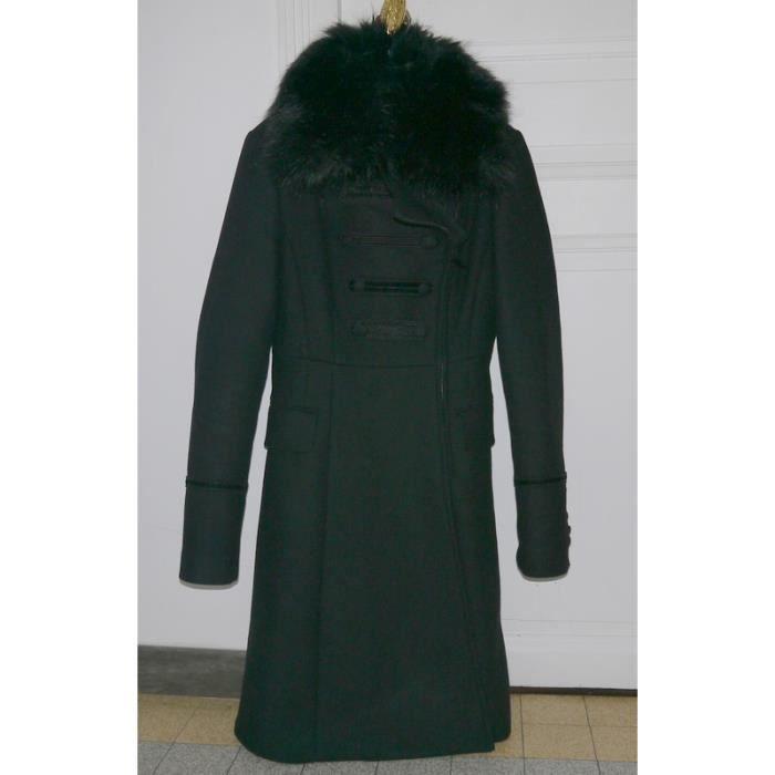 MANTEAU - CABAN ZARA Manteau EFFET FOURRURE pour Femme Taille Fr 3 d2a4ec7721f