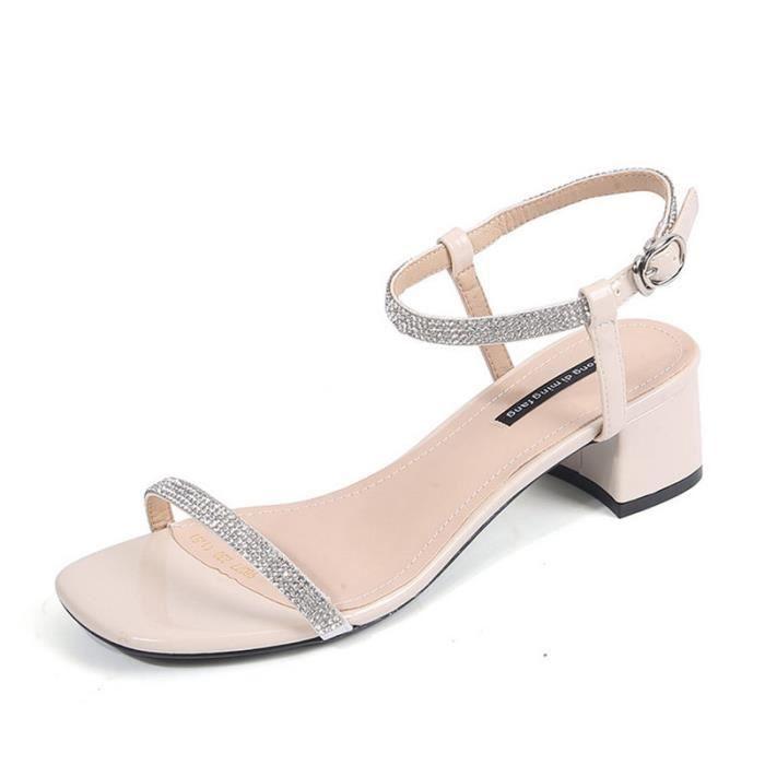 Femmes Chaussures À Fête Tenue Sandale D'été Talons De Sandales PikuZX
