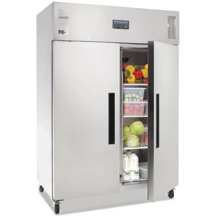 ARMOIRE RÉFRIGÉRÉE Réfrigérateur Professionnel 1200L INOX Positif sur