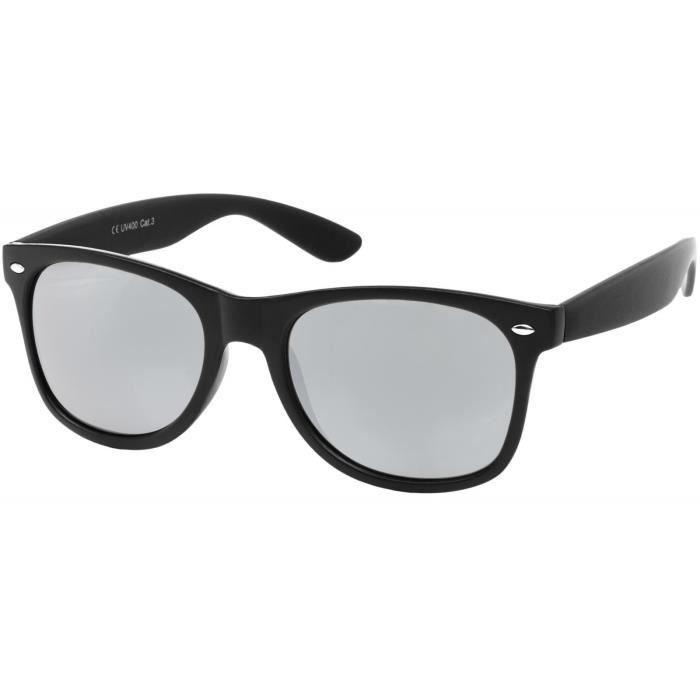 lunettes de soleil style nerd à verres antireflet, design rétro classique, unisexe 09020039