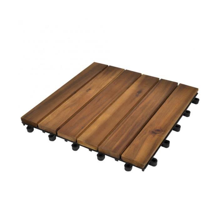 Superbe Tuile de plancher en acacia modèle vertical 30 pcs - Achat ... 08aedf0c8e94