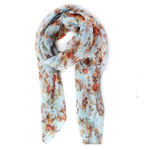 ... ECHARPE - FOULARD Mode féminine longue écharpe en soie Châle Imprimé ... e26e8eeddd4