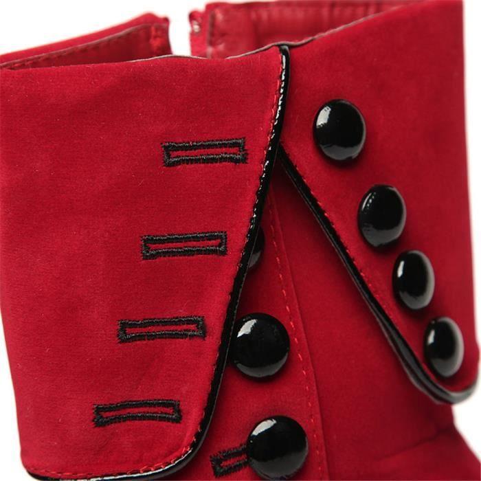 Bottes femme Bottes Talons hauts Mode Chaussures Femme Plate-forme Flocon flambeau Bottes hiver Chaussures féminines Femmes Botas