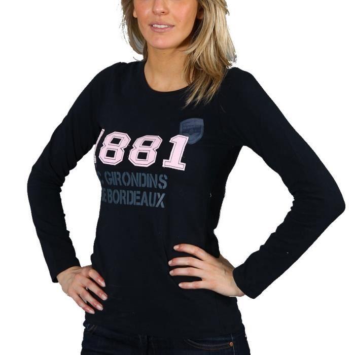 fcgb-tee-shirt-1881-femme-marine-gris-rose.jpg d3cd6a3cc1d