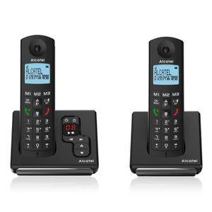 Téléphone fixe Alcatel F690 Duo Téléphone Sans Fil Répondeur Noir