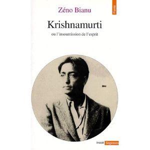 LIVRE RELIGION Krishnamurti ou L'insoumission de l'esprit