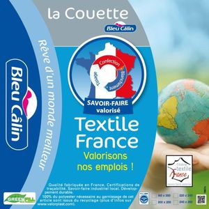 BLEU CALIN Couette chaude Fili?re textile France 140x200 cm blanc