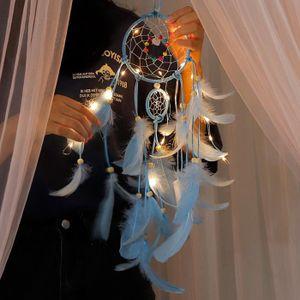 ATTRAPE-RÊVES Lumière de nuit de plumes attrapeur de rêves à la
