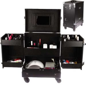 TROLLEY MATERIEL Valise trolley manucure compact, rangements vernis