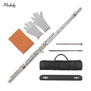 FLÛTE TRAVERSIÈRE Meelady 17 Trous Concert C Flute Pores ouverts - f