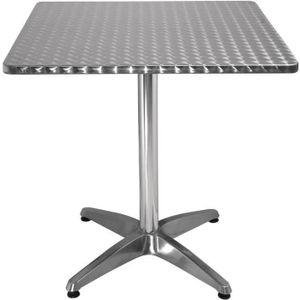 MANGE-DEBOUT Boléro Bistro Table carrée en acier inoxydable 700