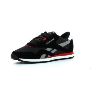 Cl Nylon Rouge Chaussures Homme Noir Reebok 80E5qw8
