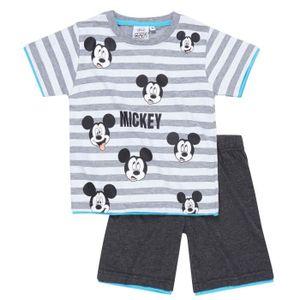 Ensemble de vêtements Disney Mickey   Ensemble short + Tee-Shirt