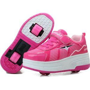 BASKET Nouvel Enfant Chaussures à Roulettes avec Double R