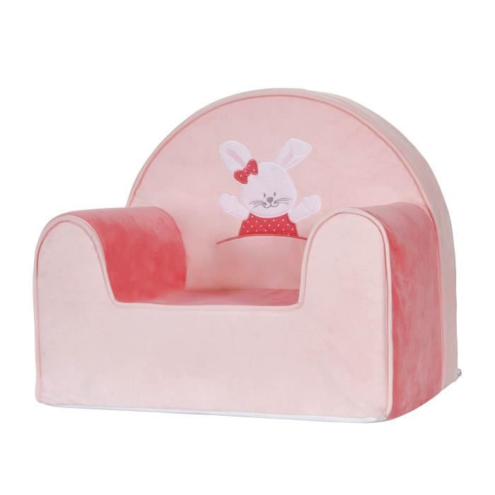TINEO Fauteuil Club Lapin rose