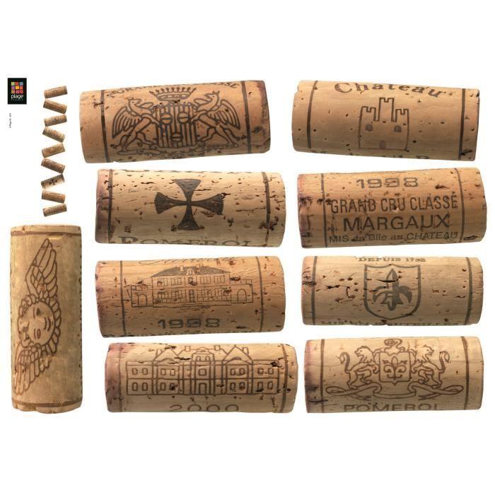 PLAGE Stickers déco - Pile de bouchons 1 planche - 48 x 68 cm