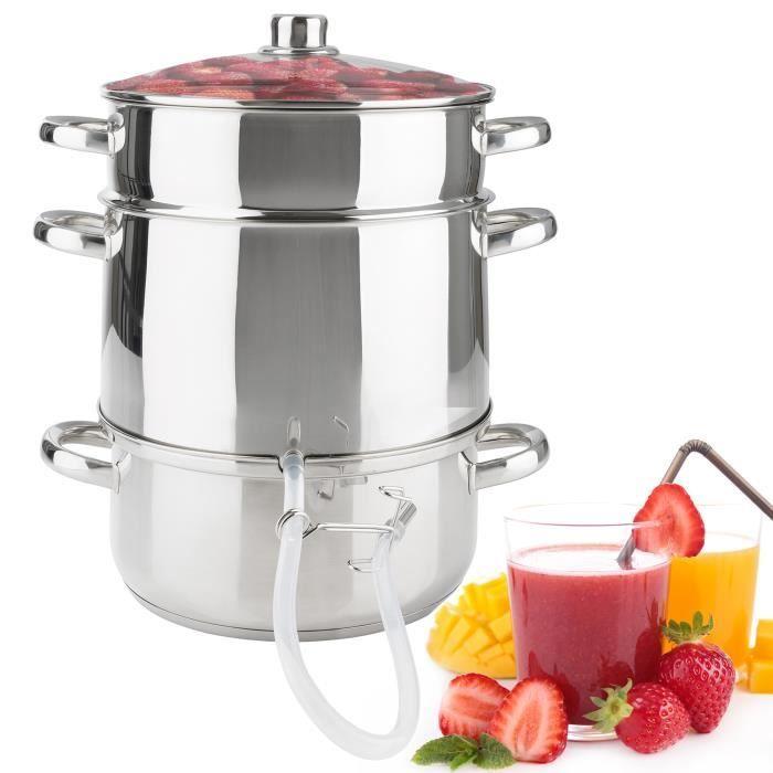 extracteur de jus a vapeur cuiseur vapeur centrifugeuse en acier inox 26cm achat vente. Black Bedroom Furniture Sets. Home Design Ideas