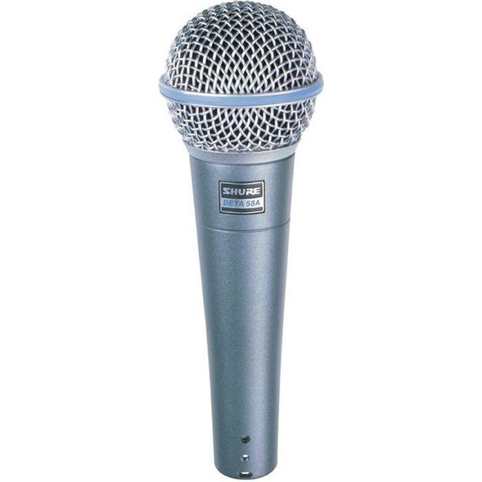 shure micro dynamique beta58 micro chant microphone accessoire avis et prix pas cher. Black Bedroom Furniture Sets. Home Design Ideas