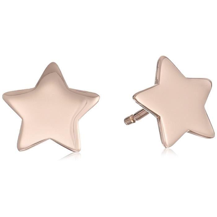 Craze 14k Italian Gold Star Stud Earrings J3VVD