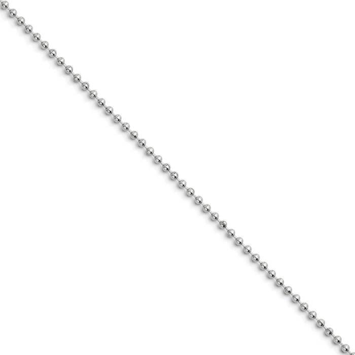 Boule 2.4 mm-Acier Inoxydable chaîne 20 cm
