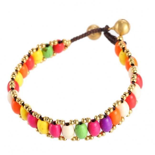 a734799272b260 Bracelet Tibétain - Fantaisie Multicolore - Plaisir Et Tradition Ethnique