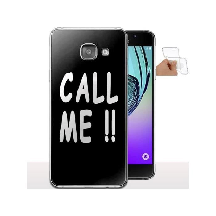 Coque protection silicone Samsung A3 2017 Call Me (noire) - Achat ... 6f78d0d993f2